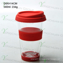 Ротовое стекло с двойным стенкой 300 мл, жаропрочное высокоселективное боросиликатное стекло для питья, кубок для кофе в пищевой упаковке 350