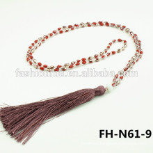 beaded tassel necklace pendant bead beaded fringe turkish 2015
