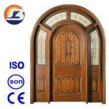 Puerta de madera sólida exterior de alta calidad de Meranti