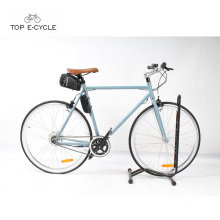 TOP fashion pedal assistance fixed gear electric bike single speed ebike