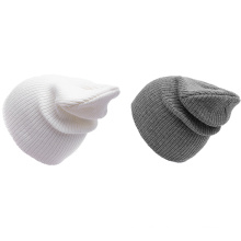 Custom logo high quality keep warm hat in winter classic plain color hat