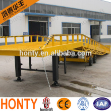 hot sale 6 t to 10 t mobile loading yard ramp /mobile container load ramp for sale