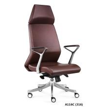 Modern design leather adjustable headrest executive chair
