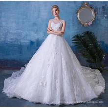 Frisado sem encosto vestido de noiva vestido de noiva HA521