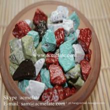 Rochas de chocolate em forma de pedra