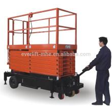 Plataforma elevatória tipo tesoura com dispositivo de embutir (II)