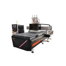 Enrutador CNC (doble husillo + taladrado fila)