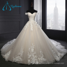 New Design Cathedral Train LaceAppliques Two Piece Wedding Dress