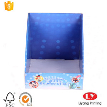 Foldable corrugated cardboard gift display box