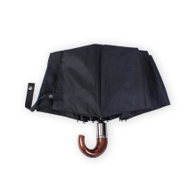 Automatic Folding Windproof Men Hook Handle Umbrellas