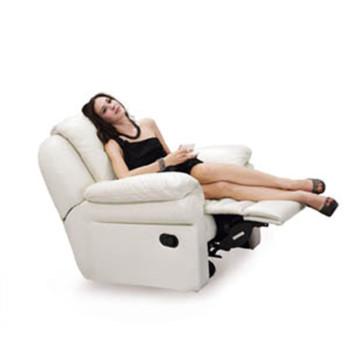 Sofá eléctrico del reclinación del sofá del cuero de la calesa del cuero genuino (811)