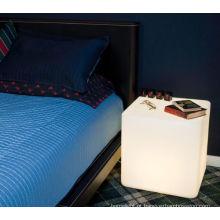 decoração de mobiliário de interior bar mordern levou flash tamboretes quadrados RGB Color Changing LED Cube Light