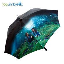 Tendência 2018 L'Oreal Certified Atacado Barato Em Linha Reta Impressão Personalizada Foto Design Guarda-chuva Com Impressão Do Logotipo