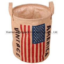 Custom Recycle Design Sac à provisions pour le lavage au jute naturel à la main supérieure