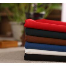 Tissu tissé extensible de Spandex de polyester teint en gros