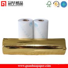Rollos de papel térmico con recubrimiento superior ISO