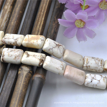 Perles colliers mode impression Semi pierre précieuse