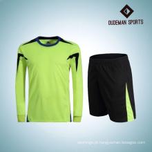 Fábrica atacado personalizado futebol jersey mangas compridas guarda-redes uniforme