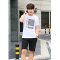 Мода лето с коротким рукавом хлопок отпечаток мужской одежды подгонянные логотип футболка