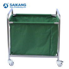 SKH040 Medical Stainless Steel Laundry Utility Tratamento Trolley
