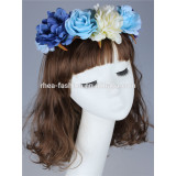 charming flowers elastic headbands,artificial flower crown hair jewelry accessories