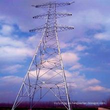 Torre linear de la transmisión de poder de la tubería de acero del circuito doble 1000kv