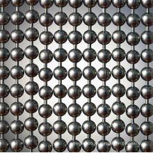 Cortina con cuentas de metal de acero inoxidable