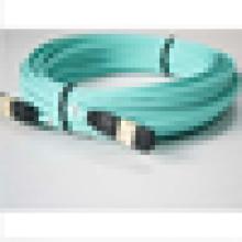 Câble de cordon de raccordement fibre optique MTP MPO OM3 à 3 mètres avec câble 10 Go Aqua pour QSFP + SR4