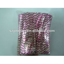 Silver and Pink Metallic Twist Tie