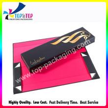 Подарочная коробка с откидной бумагой для косметики с горячим тиснением