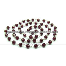 Gemstone Beaded Chains Garnet Wholesale