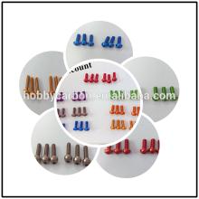 Venta caliente profesional M2 / M3 / M4 botón de aluminio anodizado Tornillos / perno de los tornillos / tapa para RC Drone