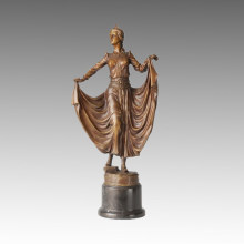 Estatua de Bailarina Bailarina Americana Escultura de Bronce TPE-139