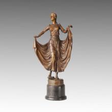 Статуя танцовщика Американская танцовщица Бронзовая скульптура TPE-139