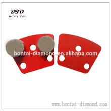 Round segmnet abrasive tool for grinding concrete