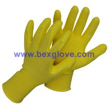 Latex Work Garden Glove, Foam Finish, Light Working