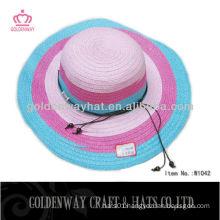 Ladies Wide Brim Elegant Straw Hat