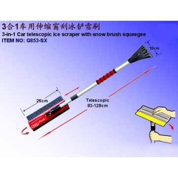 3-in-1 Telescopic Ice Scraper With Snow Brush Squeegee