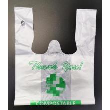 Plastiktüte aus biologisch abbaubarem Kompost auf Maisstärke-Basis