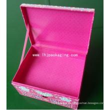 Cajón de alta calidad con cajón de embalaje Caja de papel cosmético con cinta