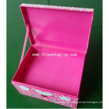 High Quality Clamshell Drawer Packaging Cosmetic Paper Box with Ribbon