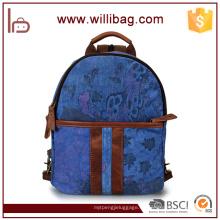 Mochila barata New Design Canvas Backpack School Book Paquete de bandolera para hombro