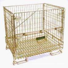 Euro Style Color Zinc Galvanized Wire Storage Mesh Container