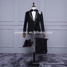 2017 Free Shipping With Black Appliques Men Suits Formal Dresses at Party New Arrivals