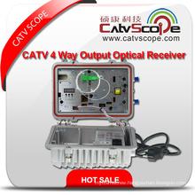 High Performance Agc Control Outdoor CATV 2 Way Output Optical Fiber Receiver