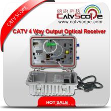 Высокопроизводительный Agc Control Открытый CATV 2-полосный выход оптического приемника волокна