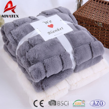new design super soft long pile pv fleece embossed blanket