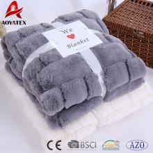 Novo design super macio longo pilha pv velo em relevo cobertor