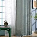 Cortina bordada de corda de algodão para sala de estar