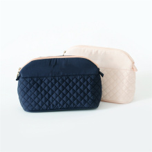 Retro Ladies Cute Pink Small Quilted Cosmetic Bag